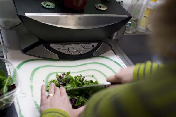 Chopping Spinach